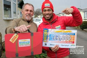 Clive can head off on the holiday of a lifetime, courtesy of People's Postcode Lottery