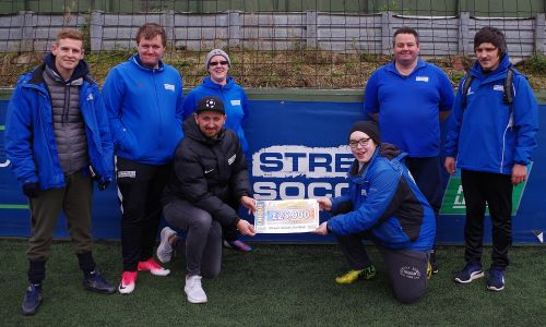 People's Postcode Lottery players have awarded £25,000 to Street Soccer Scotland