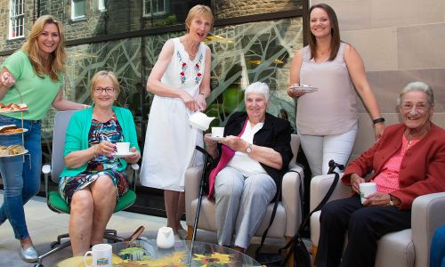 Judie McCourt welcomed charity Contact the Elderly and 20 local older people for afternoon tea