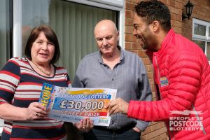 Lucky winner Sandra said she couldn't believe she had won £30,000
