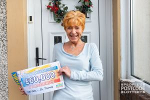 Josette scooped a staggering £60,000 because she plays with two tickets