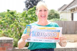 Victoria couldn't believe her and her husband won £30,000 thanks to their postcode