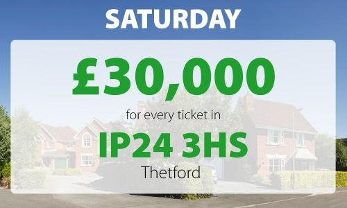 Four lucky Thetford players have won big thanks to their postcode