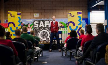 Author Ryan Gattis at a Book Festival event in HMP Greenock