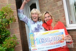 Jean was over the moon with her £30,000 win