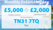 Three players in a Rye postcode have won big in this month's Dream Holiday prize