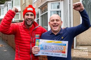 Steven was over the moon with his £30,000 prize