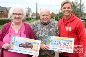 Patricia and husband John were bowled over by their surprise BMW win