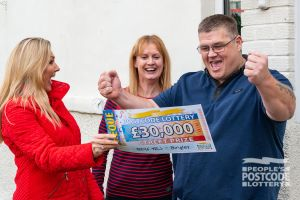 Our winner Denis was certainly happy with his £30,000 prize!