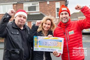 Matt with St. Helens Millions winners