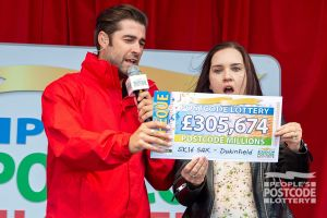Lorna had the full winning postcode, SK16 5AX, winning an incredible £305,674