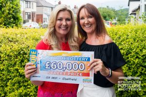 Winner Amanda was thrilled with her £60,000 cheque