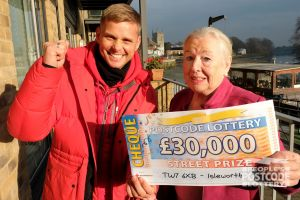 Happy winner Shirley is planning to spend her prize money on home improvements and her grandchildren