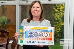 Paula was delighted with her £30,000 prize