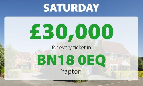 One lucky Yapton player has picked up a stunning £60,000 in Saturday's Street Prize