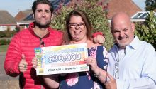 Brampton winner Tracey was in luck after picking up £30,000