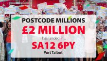 Lucky winners in Port Talbot shared an amazing £2 Million In the Spring 2012 Postcode Millions