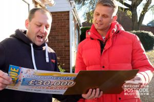 Jeff surprises Stuart with a life-changing cheque