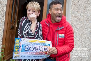 Elaine couldn't believe her luck when Danyl handed her the cheque