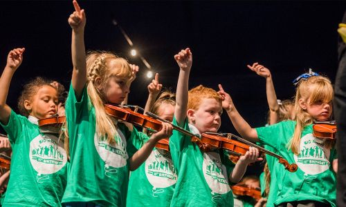 Celebrating it's 10th birthday in 2018, Sistema Scotland has received over £1 Million from our players