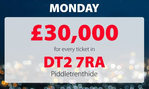 A lucky Piddletrenthide player has won a whopping £30,000 prize