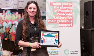 Lorraine Inglis won the title of Friend of Friends of the Earth at the 2018 Earthmovers Awards