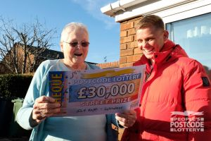 Fiona S has lived in her postcode for nearly 40 years - but today's the first time it has won her £30,000!