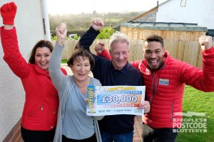 Andy and Jenny plan to take their children and grandchildren on a big family holiday to Florida with their winnings