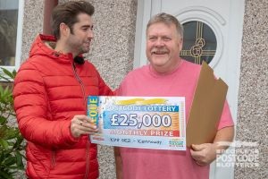 Charles couldn't believe his luck in winning £25,000