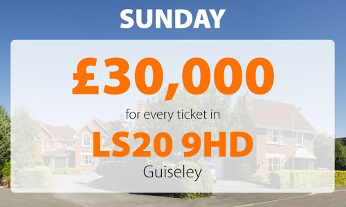 One lucky winner from Guiseley has scooped an amazing £30,000 in Sunday's Street Prize
