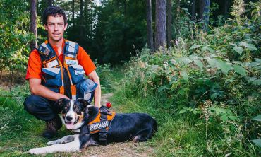 The Search Dog Heroes project has been awarded £1 Million from players of People's Postcode Lottery