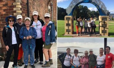 Sarah Brown, along with friends and celebrities, walked the Fife coastal path to raise money for Theirworld