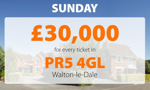 Two Walton-le-Dale residents have scooped an amazing £30,000 each