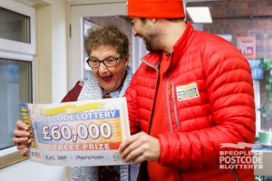 Rita couldn't believe she had won £60,000