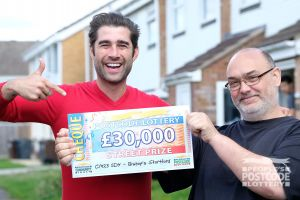 Jason was thrilled with his £30,000 prize
