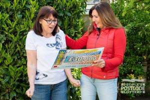 Jacqueline was ecstatic when she found out she'd won a £30,000 cheque