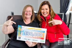 Susan was overjoyed to win £30,000 after expecting a cheque for £1,000