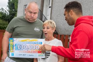 Winner Margaret and partner Eric couldn't believe their luck when Danyl revealed their £30,000 cheque