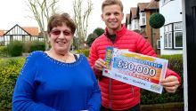 Happy Patricia with Street Prize Presenter Jeff Brazier