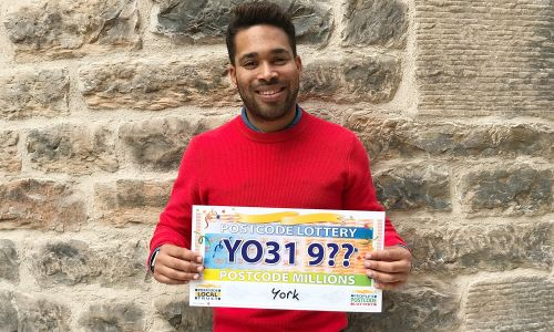 Danyl Johnson reveals our £3 Million Postcode Millions has landed in postcode sector YO31 9 in York