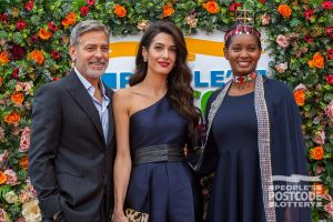George and Amal Clooney were joined by Nice Nailantei Leng'ete as they made their way into the Charity Gala