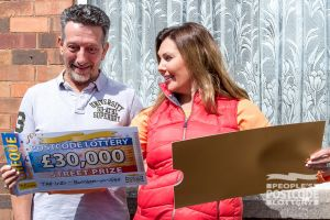 Nicolas couldn't believe his eyes when Judie revealed his whopping prize