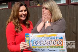 Nicola had been up since 4am before our team visited. It was worth it - she scooped £250,000!