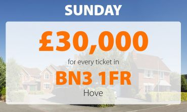Two lucky winners in postcode BN3 1FR won £30,000 Sunday Street Prizes