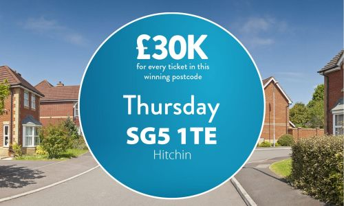 Today's #30KADAY Street Prize has landed in postcode SG5 1TE in Hitchin