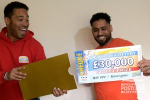 Robel was speechless when he found out he'd won a £30,000 cheque