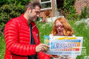 Kathy was speechless when Matt unveiled her enormous cheque