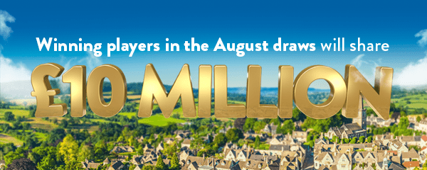 Winners In The August Draws Will Share £10 Million (Mobile)