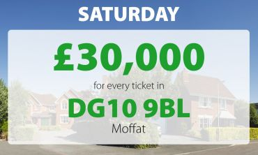 One lucky Moffat player has picked up a £30,000 prize today thanks to their postcode