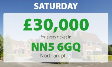 One lucky winner in postcode NN5 6GQ won our £30,000 Saturday Street Prize